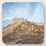 La Gran Muralla de China fuera de Pekín Posavasos De Bebida