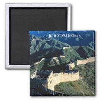 La Gran Muralla de China Imán Cuadrado