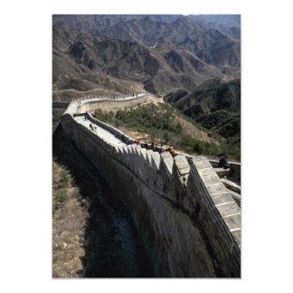 "La Gran Muralla de China, Pekín, China Invitación 5"" X 7"""