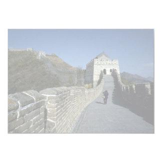 """La Gran Muralla, Pekín, China Invitación 5"""" X 7"""""""