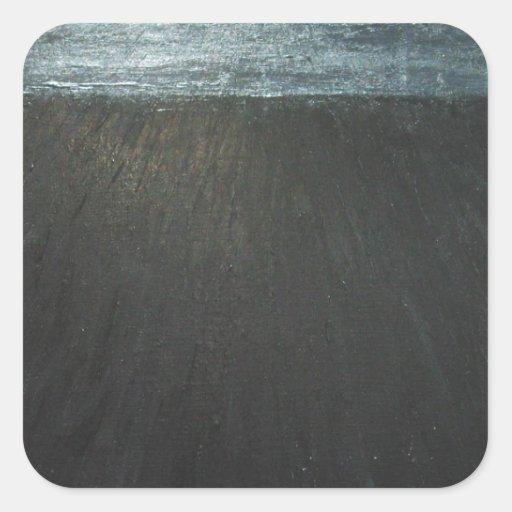 La Gran Muralla (pintura negra del minimalism) Pegatina Cuadradas Personalizadas
