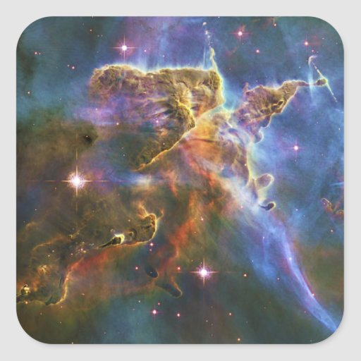 La gran nebulosa NGC 3372 de Eta Carina Pegatina Cuadrada