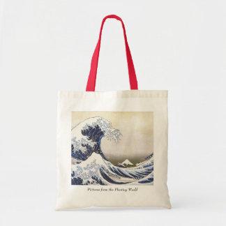 La gran onda de Hokusai Bolsa Tela Barata