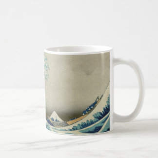 La gran onda de Hokusai de Kanagawa Taza Básica Blanca