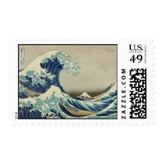 La gran onda de Hokusai de Kanagawa Timbre Postal