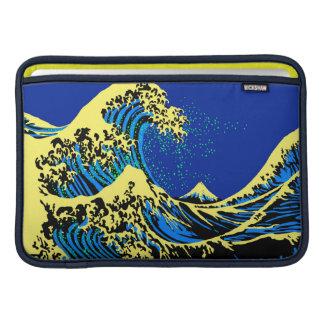 La gran onda de Hokusai en estilo vibrante del Funda Macbook Air