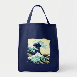 La gran onda de Kanagawa (神奈川沖浪裏) Bolsa Tela Para La Compra