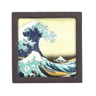 La gran onda de Kanagawa (神奈川沖浪裏) Cajas De Joyas De Calidad