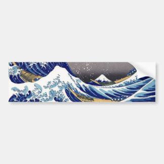 La gran onda de Kanagawa - 神奈川沖浪裏 Pegatina De Parachoque