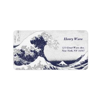 La gran onda de Kanagawa (神奈川沖浪裏) Etiquetas De Dirección