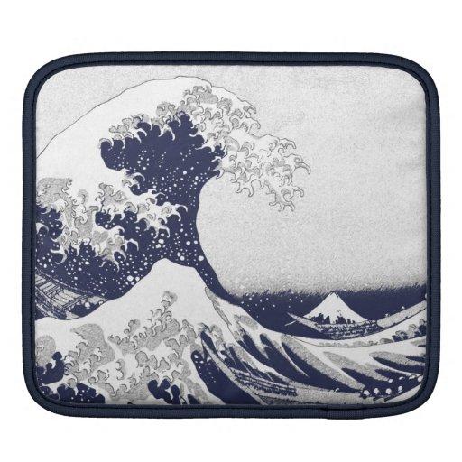 La gran onda de Kanagawa (神奈川沖浪裏) Fundas Para iPads
