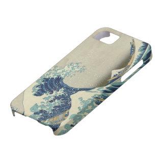 La gran onda de Kanagawa (神奈川沖浪裏) iPhone 5 Fundas