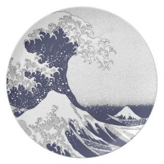 La gran onda de Kanagawa (神奈川沖浪裏) Platos