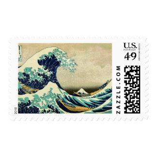 La gran onda de Kanagawa (神奈川沖浪裏) Sello