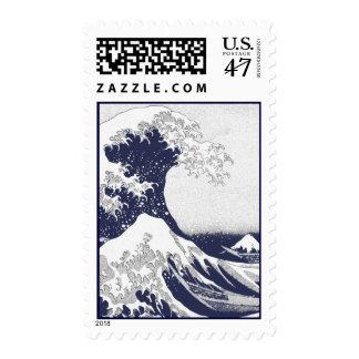 La gran onda de Kanagawa (神奈川沖浪裏) Sellos