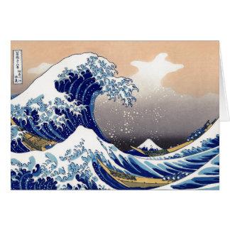 La gran onda de Kanagawa - 神奈川沖浪裏 Tarjeta De Felicitación