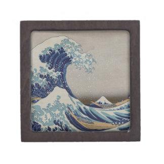 La gran onda de Kanagawa Caja De Joyas De Calidad