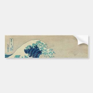 La gran onda de Kanagawa Pegatina Para Auto