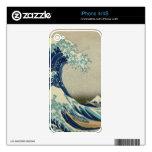 La gran onda de Kanagawa Calcomanías Para iPhone 4