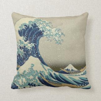 La gran onda de Kanagawa Cojín