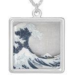 La gran onda de Kanagawa Collar Plateado
