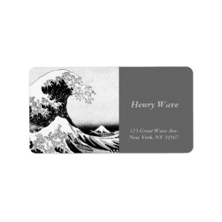 La gran onda de Kanagawa Etiqueta De Dirección