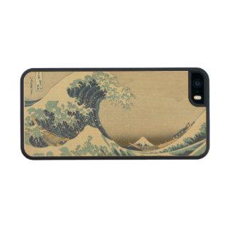 La gran onda de Kanagawa Funda De Arce Carved® Para iPhone 5 Slim