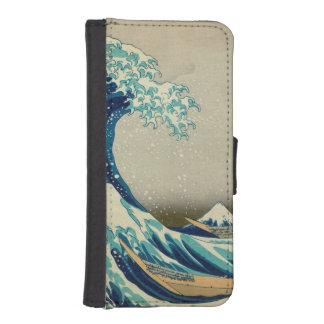 La gran onda de Kanagawa Funda Tipo Cartera Para iPhone 5