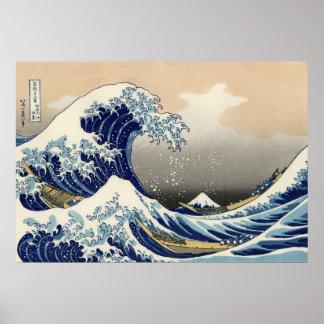 La gran onda de Kanagawa, Hokusai Póster