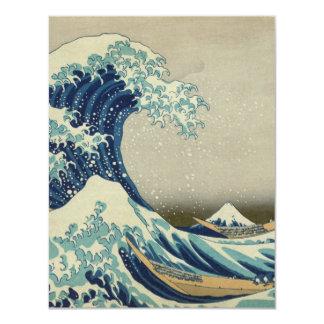 La gran onda de Kanagawa Invitación 10,8 X 13,9 Cm