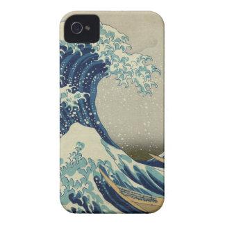 La gran onda de Kanagawa iPhone 4 Case-Mate Cárcasa