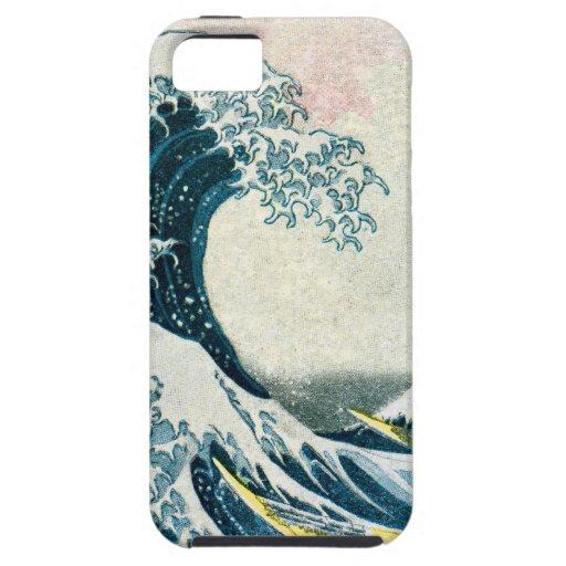 La gran onda de Kanagawa iPhone 5 Fundas