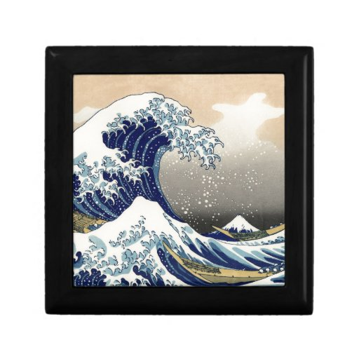 La gran onda de Kanagawa Joyero Cuadrado Pequeño