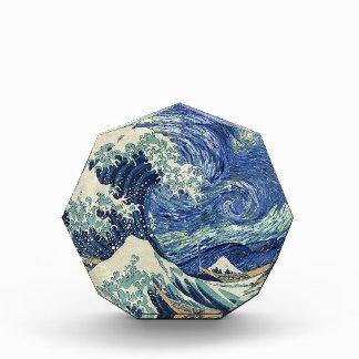 La gran onda de Kanagawa - la noche estrellada
