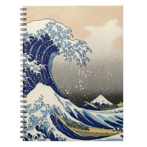 La gran onda de Kanagawa Libreta