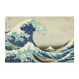 La gran onda de Kanagawa Impresión En Lona