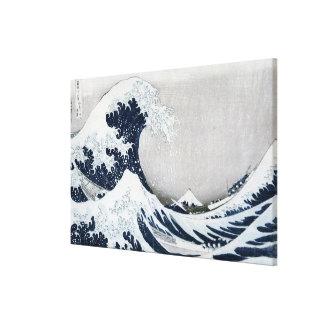 La gran onda de Kanagawa Impresión En Lienzo Estirada