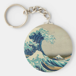 La gran onda de Kanagawa Llavero