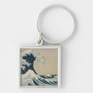 La gran onda de Kanagawa Llavero Personalizado