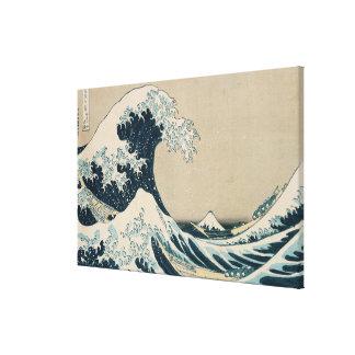 La gran onda de Kanagawa Lona Envuelta Para Galerias
