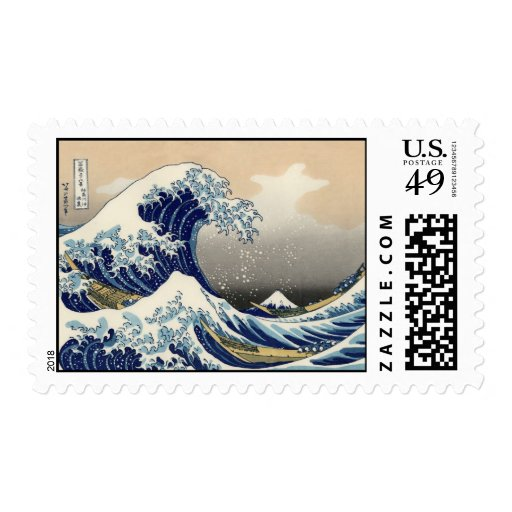 La gran onda de Kanagawa Sellos