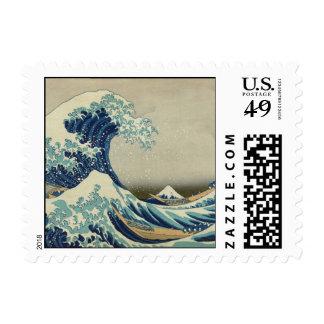La gran onda de Kanagawa Sellos Postales
