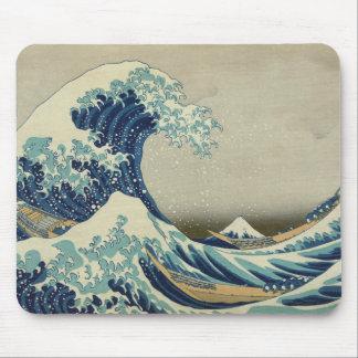 La gran onda de Kanagawa Alfombrillas De Ratón