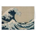 La gran onda de Kanagawa Tarjeta De Felicitación