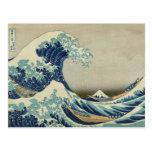 La gran onda de Kanagawa Tarjetas Postales