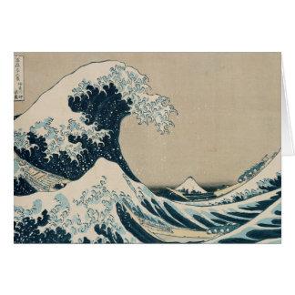La gran onda de Kanagawa Tarjetón