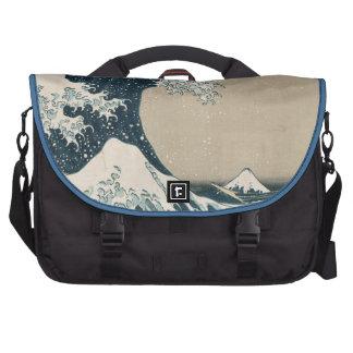 La gran onda de Kanagawa, vistas del monte Fuji Bolsas Para Portátil