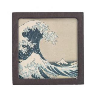 La gran onda de Kanagawa, vistas del monte Fuji Caja De Regalo De Calidad