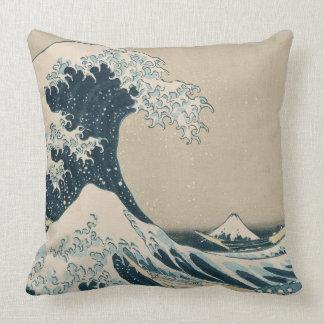 La gran onda de Kanagawa, vistas del monte Fuji Cojín