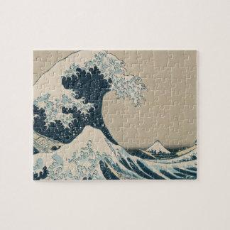 La gran onda de Kanagawa vistas del monte Fuji Rompecabezas Con Fotos